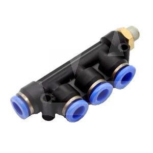 Male Branch 4 x Outlet Manifold Push Fitting