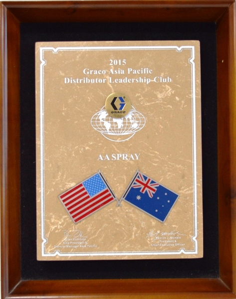 AA Spray - 2014 Graco Asia Pacific Distributor Leadership Club Award Winners